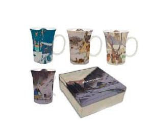 Clarence Gagnon - set of 4 - mugs