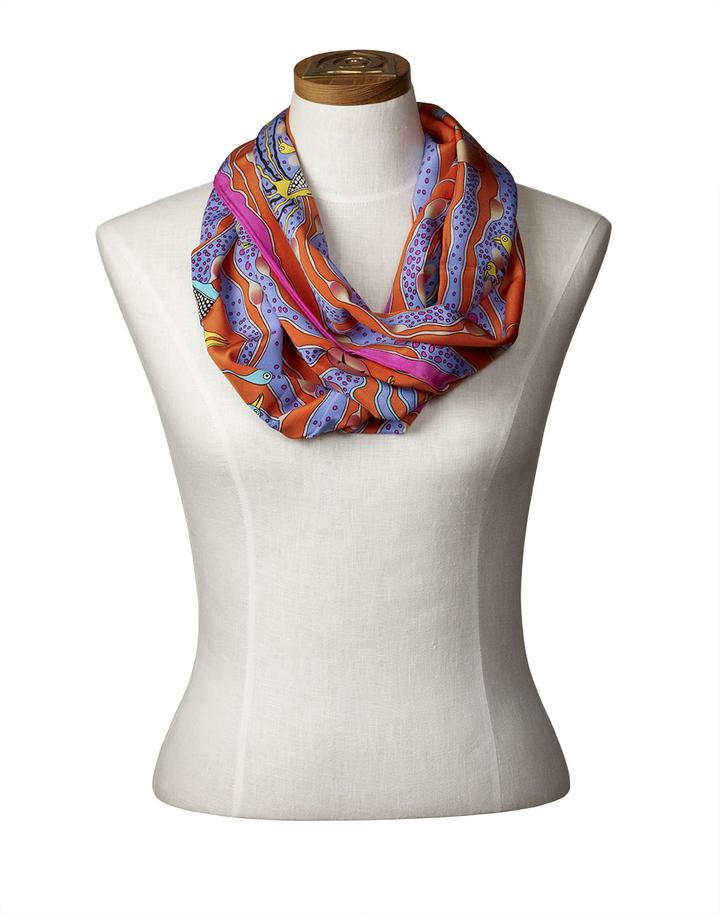Enchanted Birds Infinity Scarf<br />