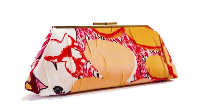 Fisher Woman Clutch Purse - Pink
