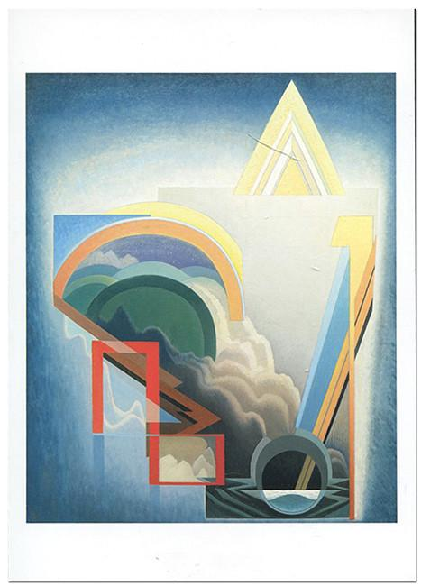 Abstraction 119 - notecard - Lawren Harris