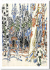 The Alander cabin on Christmas day - notecard - David Milne