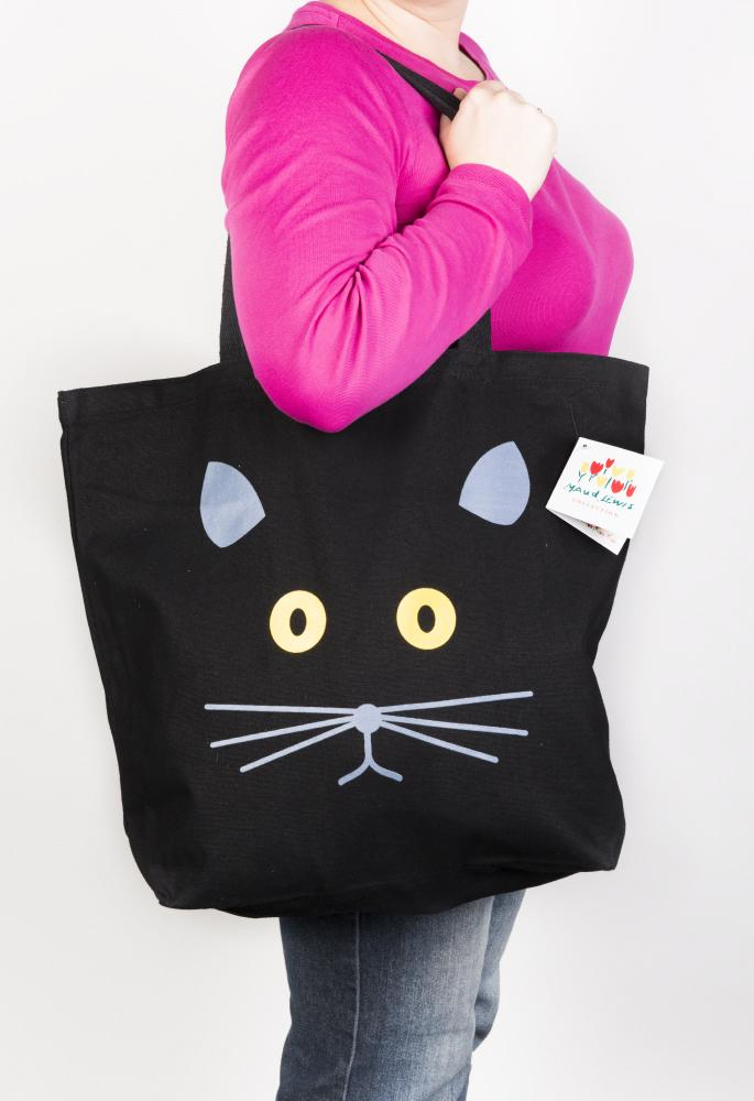 Black Cat Tote - Maud Lewis