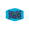Flowers and Birds by Norval Morrisseau - Face Mask