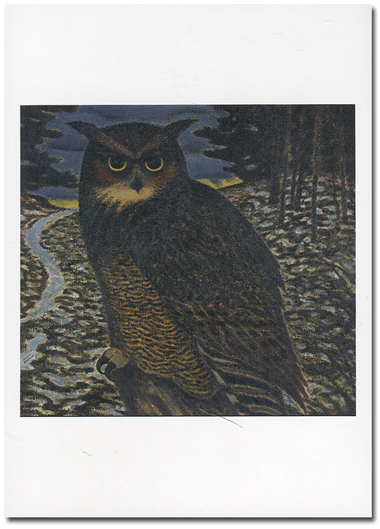 Great Horned Owl - note card