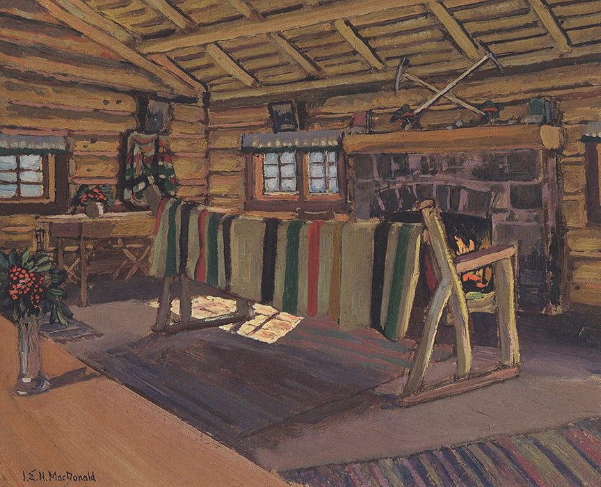 Lodge Interior - small reproduction - J.E.H. MacDonald