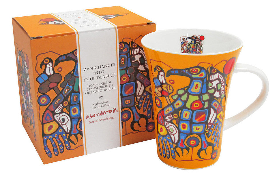 Man Changes into Thunderbird - mug - Norval Morrisseau