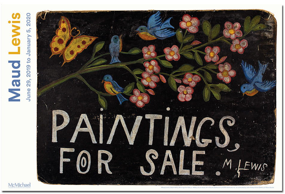 Paintings for Sale - Maud Lewis Exhibition Poster