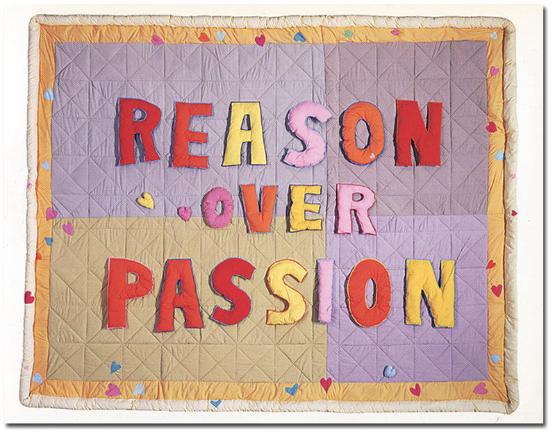 Reason Over Passion - postcard - Joyce Wieland