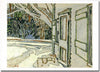 Side Door, Clarke's House - notecard - David Milne