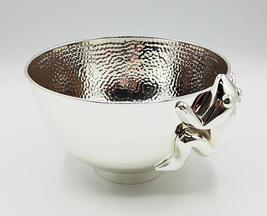 Silver Plated Bowl - Frog by Corey Bulpitt