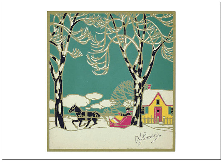 Design for Christmas Card by A.J. Casson