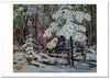 Snow in the Woods - Season's Greetings Card
