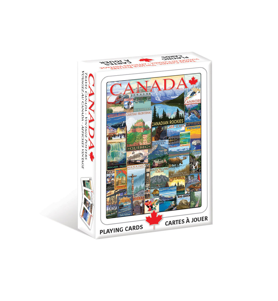 Travel Canada Vintage Poster Playing Cards