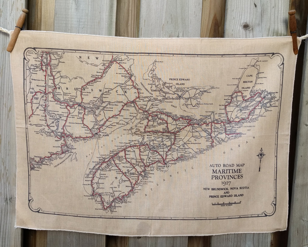Vintage Map Tea Towel - Nova Scotia