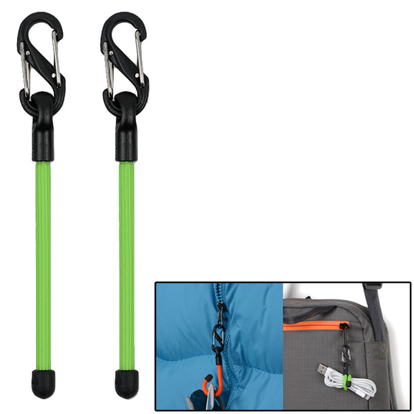 "Nite Ize Gear Tie 3"" Clippable Twist Tie - Lime 2 Pack"