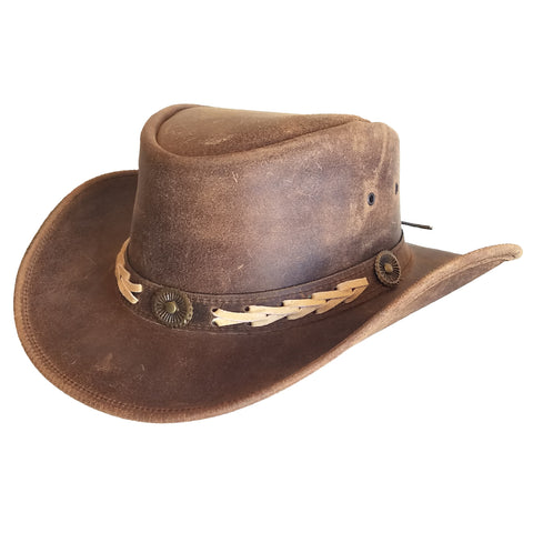 Outback Survival Gear - Broken Hill Old West Hat - Brown