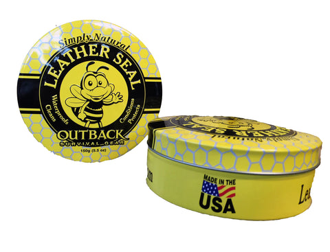 2 - Outback Survival Gear 5.5oz Tins ~ Leather Seal Conditioner Moisturizer Protects