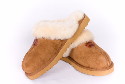 Bergen Scuff Sheepskin Slippers Outback Survival Gear Chestnut