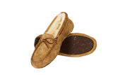 Outback Survival Gear Devon Sheepskin Moccasin Slippers Chestnut