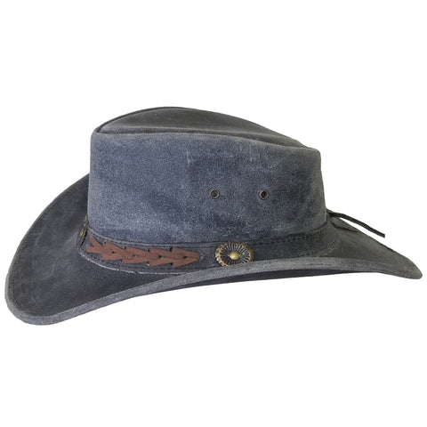 Outback Survival Gear - Broken Hill Old West Hat - Black