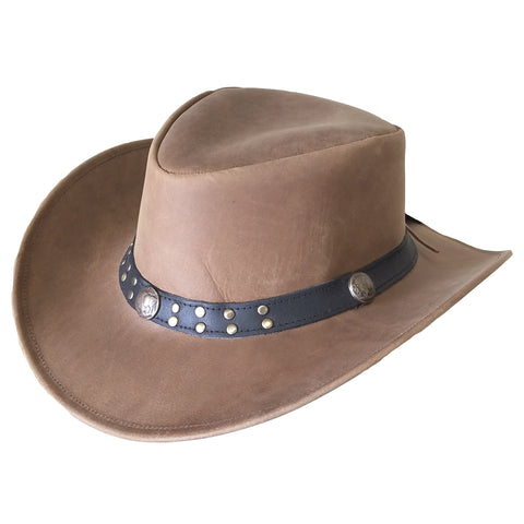 "Outback Survival Gear - ""Buffalo Bill"" Waxy Cowboy Hat - Buckskin"
