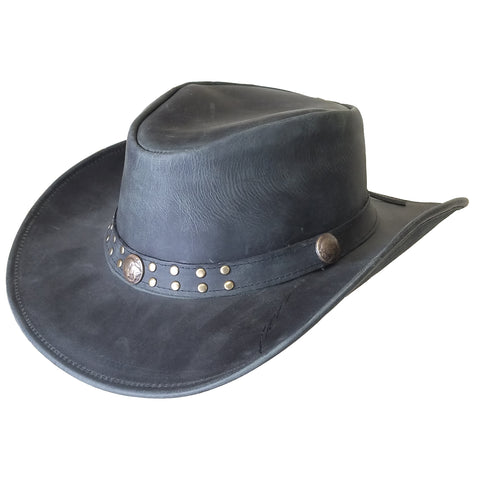 "Outback Survival Gear - ""Buffalo Bill"" Waxy Cowboy Hat - Black"