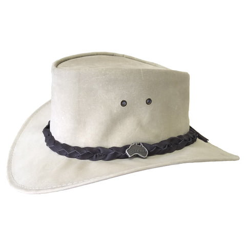 Outback Survival Gear - Kangaroo Leather Hats - Bone