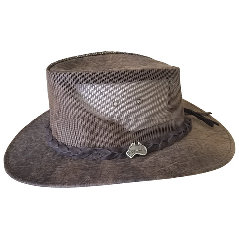 "Outback Survival Gear - Kangaroo Cooler ""Vented"" Hat - Stonewash Brown"
