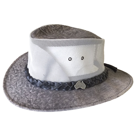 "Outback Survival Gear - Kangaroo Cooler ""Vented"" Hat - Stonewash Grey"