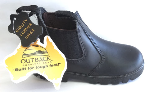Little Aussie Boot - Black - Toddler Size 12