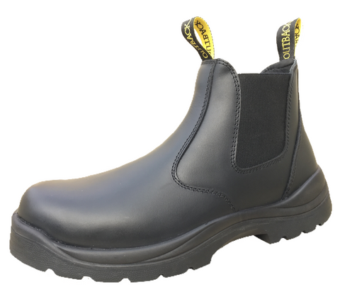 Outback Survival Gear - NEW Aussie Boot STEEL TOE Black - AUSBK