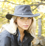 "Outback Survival Gear - Pindari ""Wild Goat"" Hats - Black Coal"