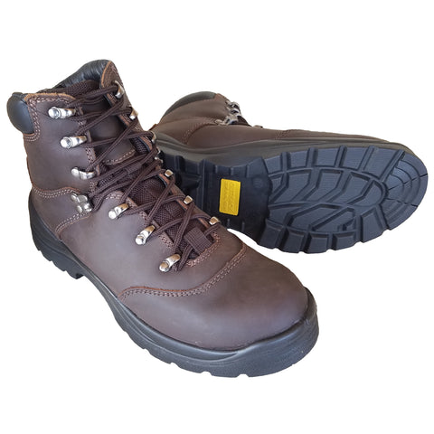 Outback Survival Gear - NEW Tassie Lace Up Boot Soft Toe Brown - TASBN