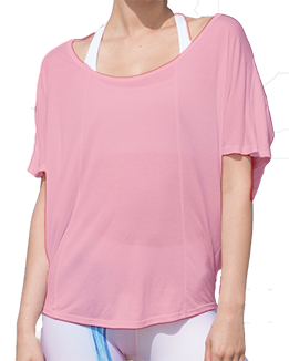 Short Sleeve Open Back Top (Pink)