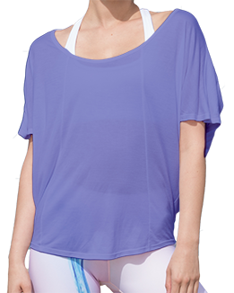 Short Sleeve Open Back Top (Purple)