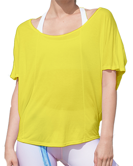 Short Sleeve Open Back Top (Yellow)