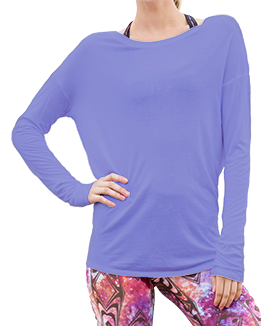 Long Sleeve Open Back Top (Purple)