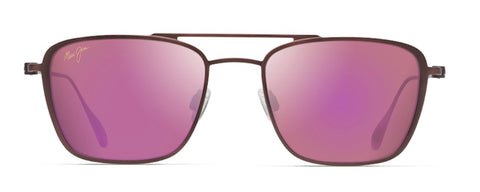Maui Jim Ebb & Flow P542 Maui Sunrise Aviator in Matte Brushed Burgundy - PoloWorld.net