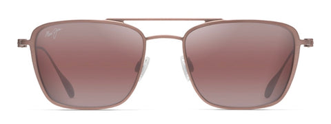 Maui Jim Ebb & Flow P542 Maui Sunrise Aviator in Brown Red Satin - PoloWorld.net