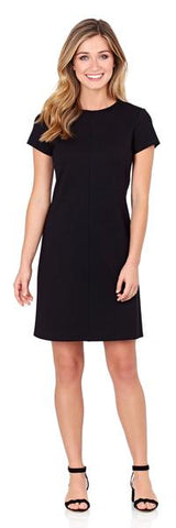 Jude Connally Marlie Ponte Dress in Black - PoloWorld.net
