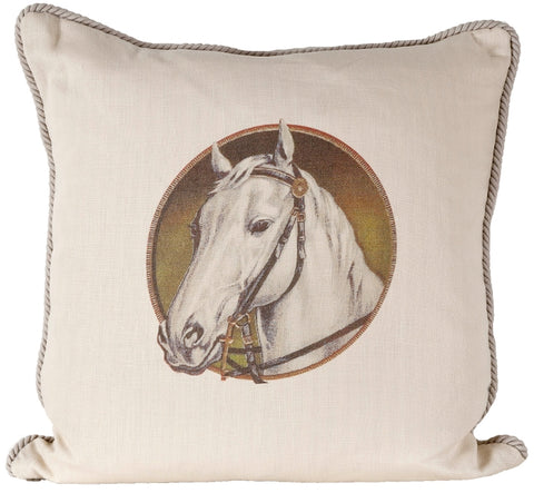 Ox Bow Decor Horse Cameo Hunter Down Pillow - PoloWorld.net