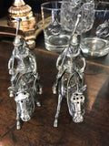 Vagabond HOuse PoloPLayer salt and pepper shaker pewter