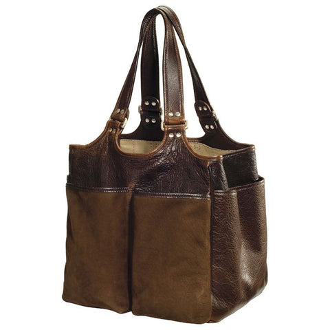 Moore & Giles Belle Picnic or Grooming Bag Nubuck Bison Chocolate - PoloWorld.net