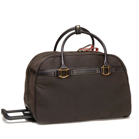 Oughton Limited Rolling Duffle, Chocolate Waxed Canvas - PoloWorld.net