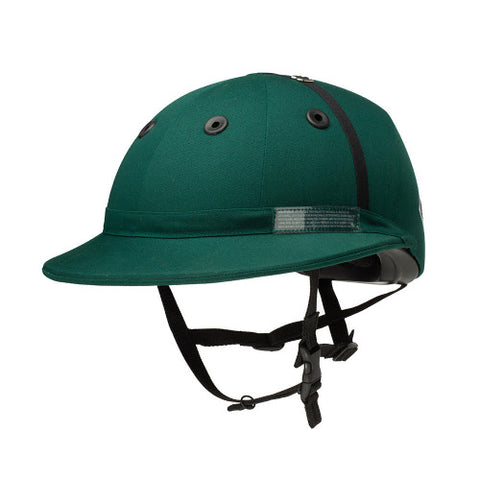 Charles Owens Polo Sovereign Helmet Hunter Green- NOCSAE POLO safety standards - PoloWorld.net