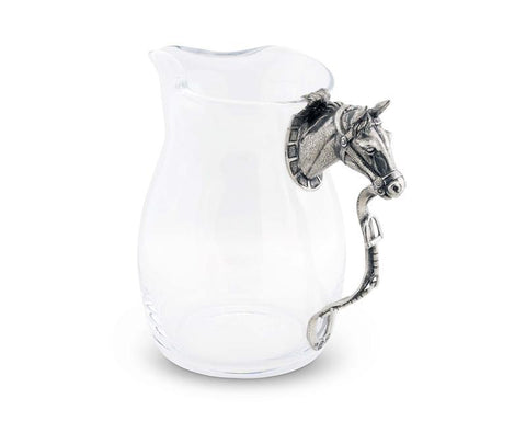 Vagabond House Horse Head Glass Pitcher H457HH