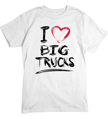 White - Men's Big Trucks Basic T-Shirt