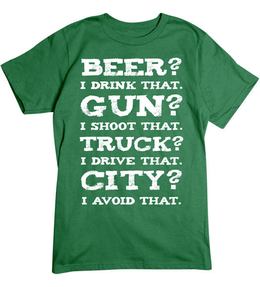 Turf Green - Men's Avoid the City T-Shirt