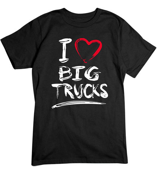 Black - Men's Big Trucks 2 Basic T-Shirt