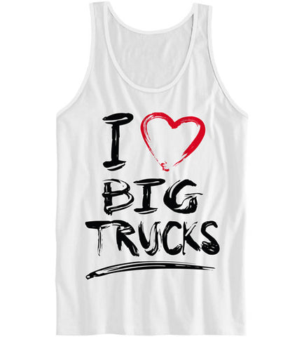 White - Women's Big Trucks Tank Top